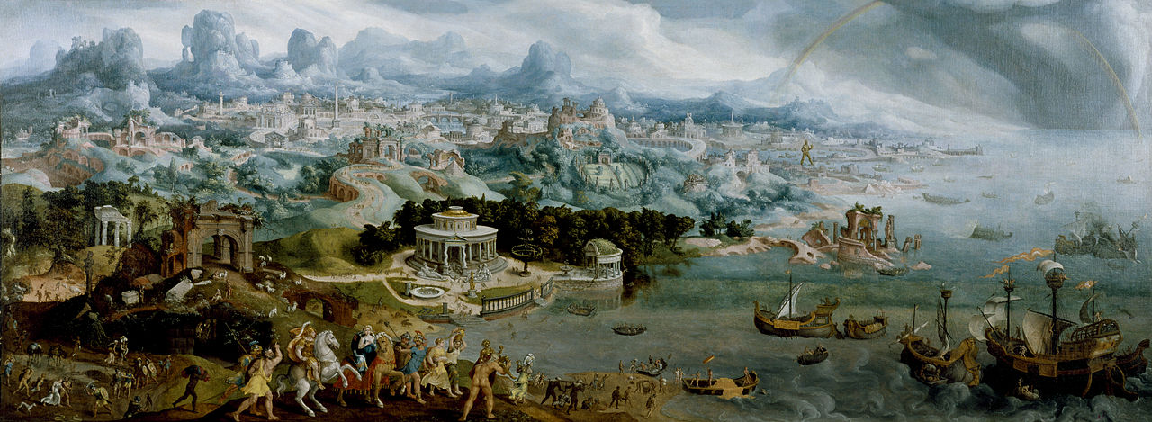 1280px-Maerten_van_Heemskerck_-_Panorama_with_the_Abduction_of_Helen_Amidst_the_Wonders_of_the_Ancient_World_-_Walters_37656