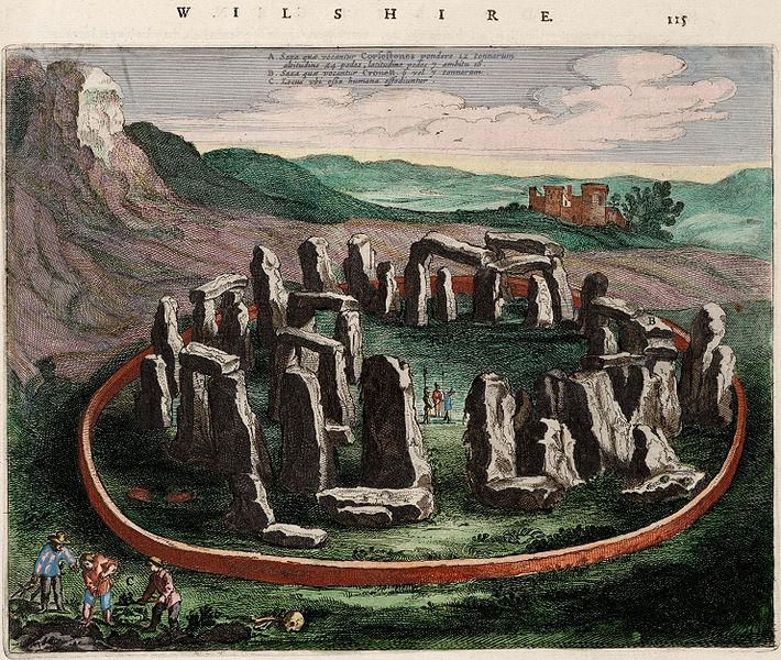 710px-Stonehenge_-_Wiltonia_sive_Comitatus_Wiltoniensis;_Anglice_Wilshire_(Atlas_van_Loon)