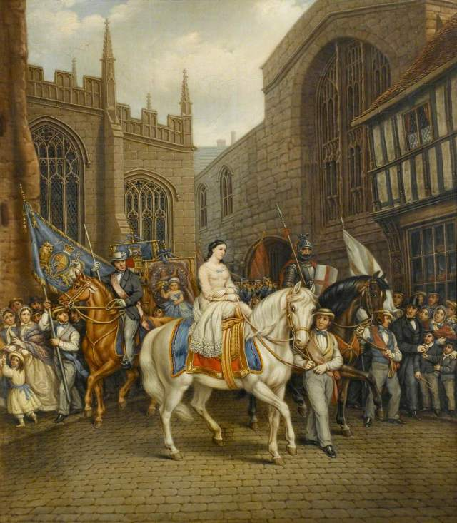 Gee, David, 1793-1872; Lady Godiva Procession, Coventry
